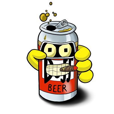Bender-Duff Beer Sticker - Riot Ink Ohio